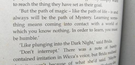 An excerpt from Paulo Coelho's Brida