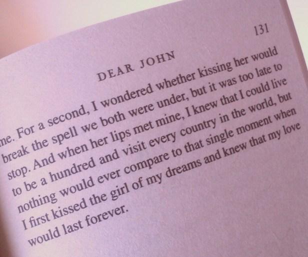 Excerpt from 'Dear John' by Nicholas Sparks