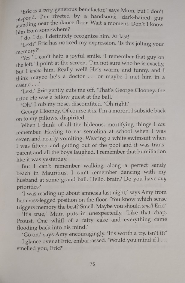 An excerpt from Remember Me? by Sophie Kinsella