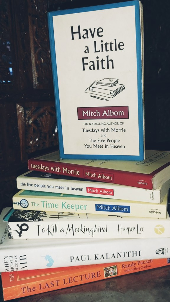 Mitch Albom books had a deep impact on Neha M and her outlook on life