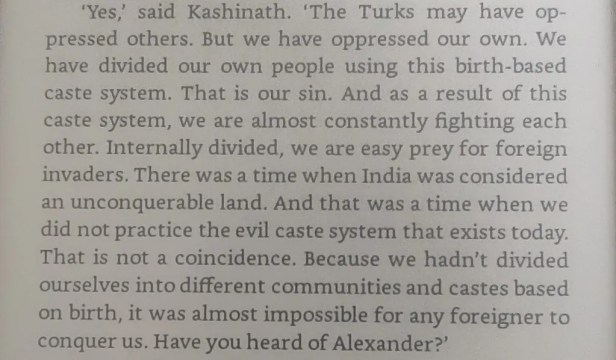 An excerpt from Legend of Suheldev about the caste system in India