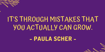 Paula Scher on how it's through mistakes that you actually can grow