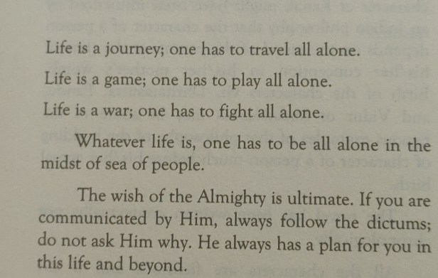 Quotes from Blessed One by Assamese author Hiranya Borah