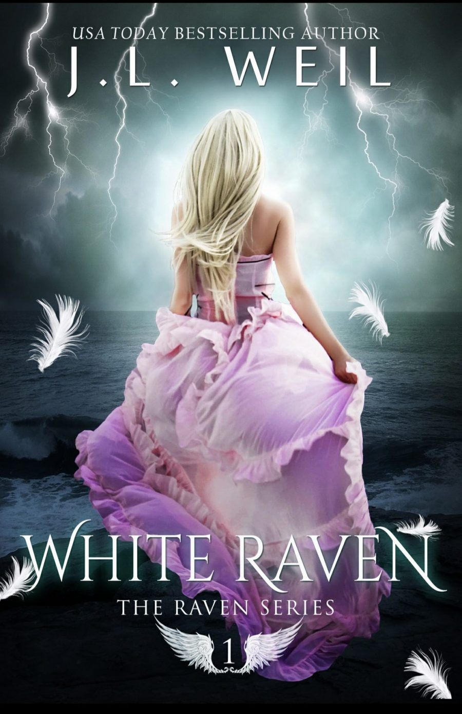 White Raven *The Raven Series - Book 1* by J.L. Weil - A Book Review #BookReview #YA #PNR #ParanormalRomance #CompleteSeries