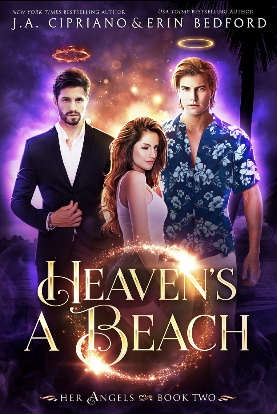 Heaven's A Beach by J.A. Cipriano & Erin Bedford - A Book Review #BookReview #FastBurn #RH #ReverseHarem #PNR #Funny #Angels