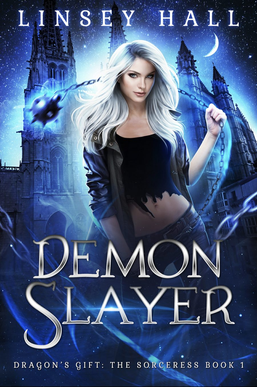 Demon Slayer: Dragon's Gift - The Sorceress Book 1 - by Linsey Hall - A Book Review #BookReview #UrbanFantasy #UF #DragonGift #4Stars #KindleUnlimited