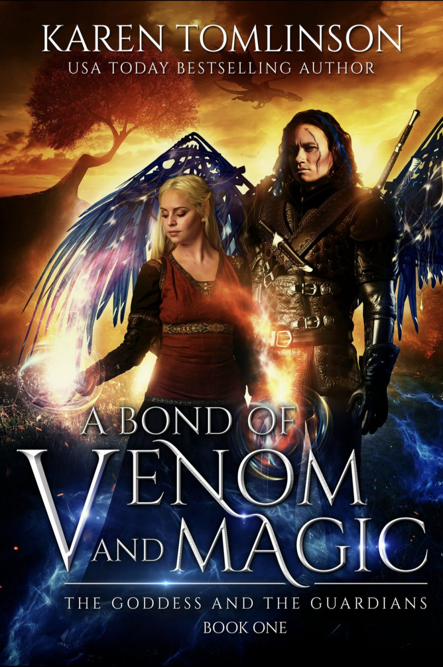 A Bond of Venom and Magic by Karen Tomlinson - A Book Review #BookReview #Fantasy #SeriesComplete #UpperYA #KindleUnlimited #KU #4Stars