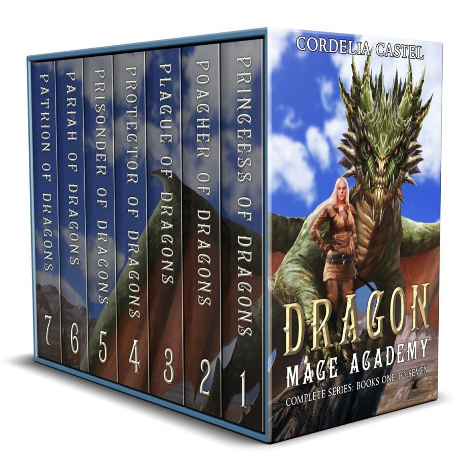 Dragon Mage Academy (Complete Series - Box Set) by Cordelia Castel - A Book Review #BookReview #YA #Dragons #Fantasy #SeriesComplete #4Stars #KindleUnlimited #KU