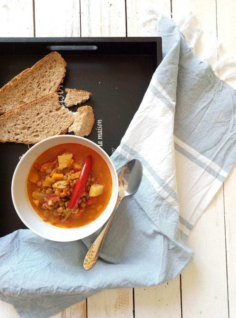 Lentil Soup with Chorizo Sausage