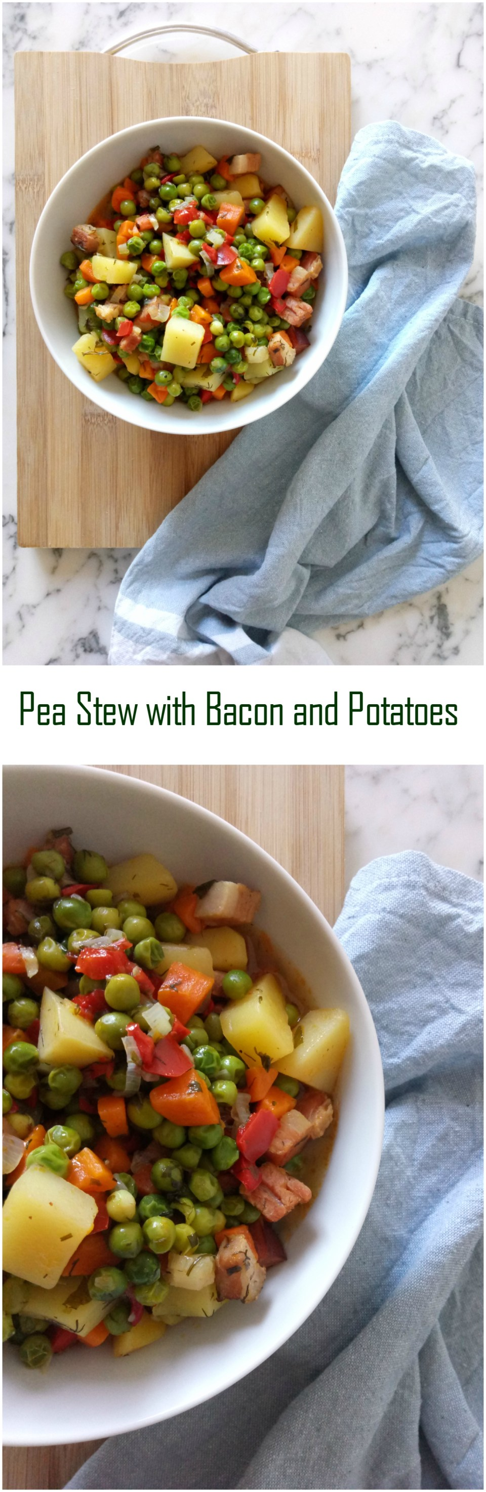 Pea Stew with Bacon and Potatoes
