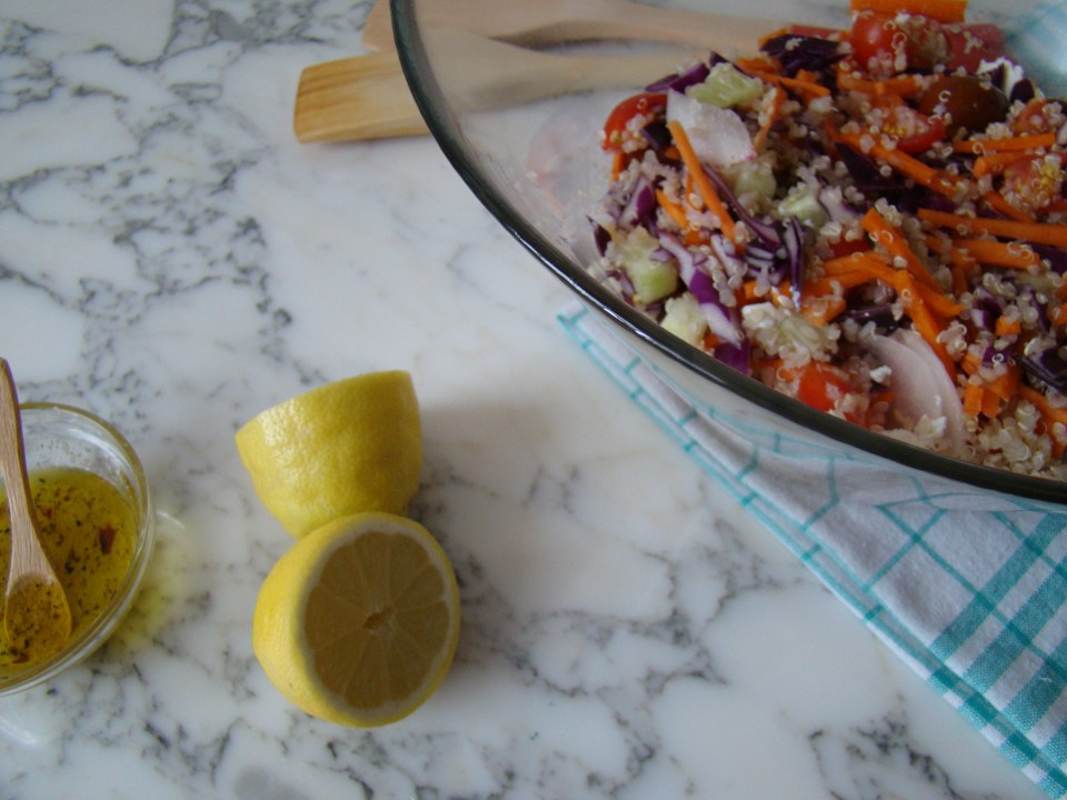 Quinoa Salad with Red Cabbage