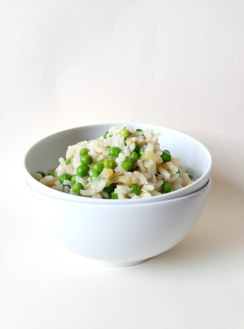 Zucchini and Pea Risotto