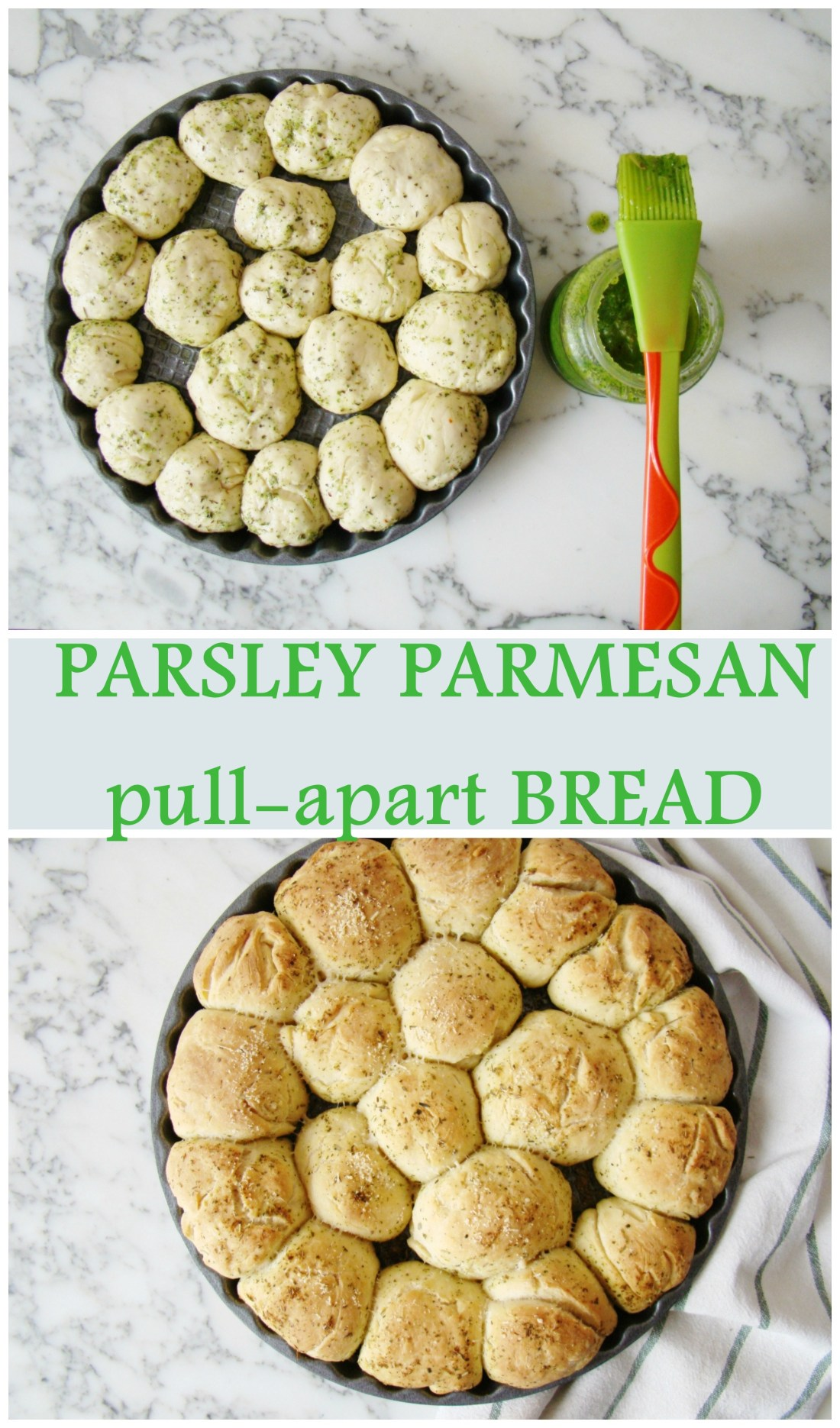 Parsley Parmesan pull-apart Bread