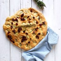 Focaccia with Sun-Dried Tomatoes