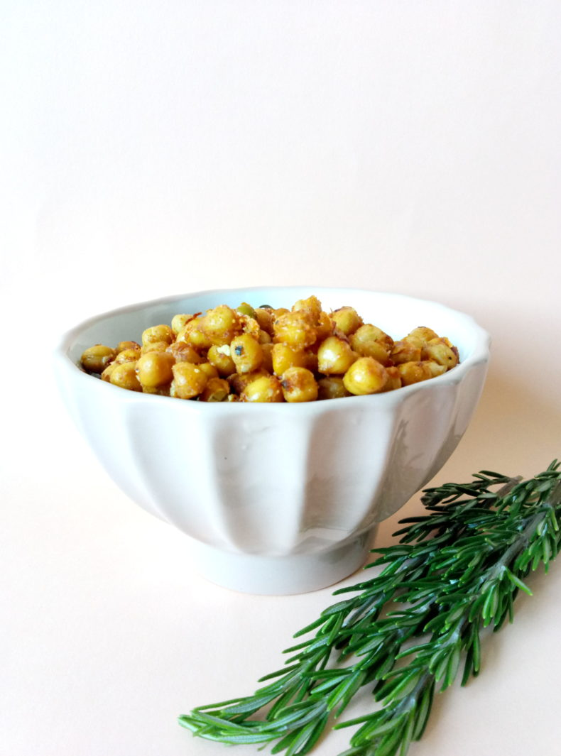 Harissa and Rosemary Roasted Chickpeas