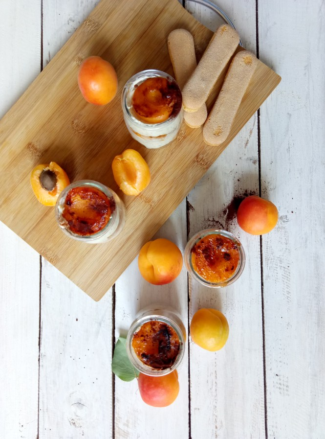 No-Bake Cheesecake Cups with Grilled Apricots