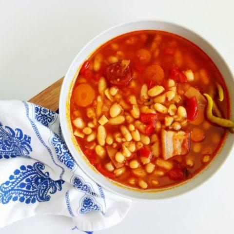 Comforting Chorizo Sausage and Bean Stew