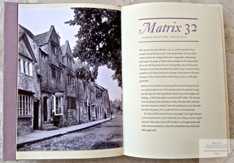 Matrix 32 Introduction, Photo of The Alcuin Press, Chipping Campden, c. 1930.