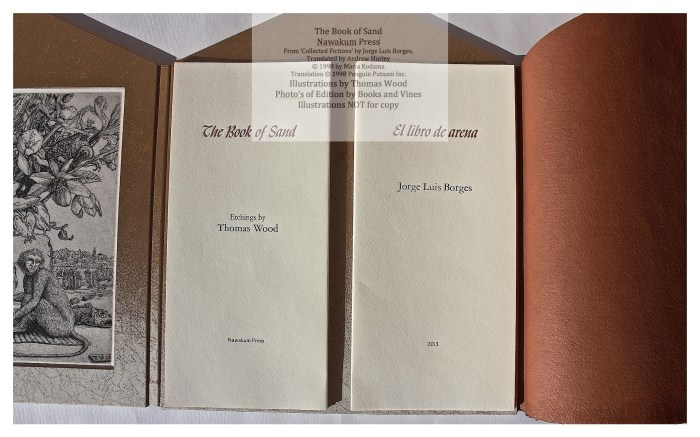 The Book of Sand, Nawakum Press, Full View of Open Book