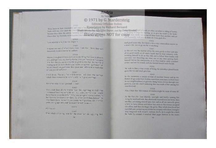 Andria, Editiones Officinae Bodoni, Sample Text #2