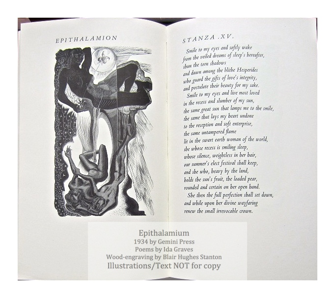 Epithalamium : A Poem by Ida Graves, The Gemini Press, Sample Illustration #5 with text