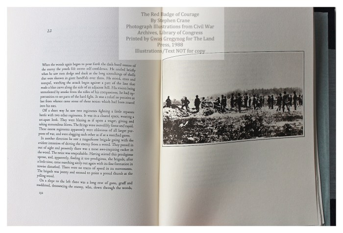 The Red Badge of Courage, Gwasg Gregynog, Sample Text with Illustration #6