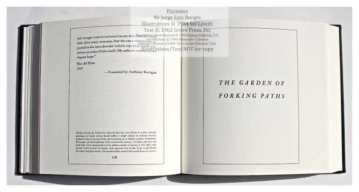 Ficciones, Limited Editions Club, Sample Text #3
