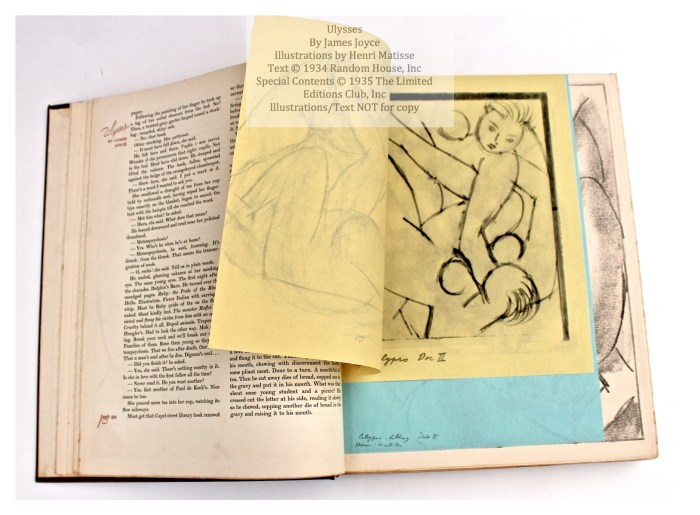 Ulysses, Limited Editions Club, Sample Illustration Grouping 2 of 4