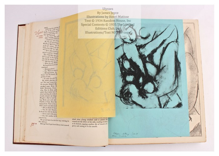 Ulysses, Limited Editions Club, Sample Illustration Grouping 3 of 4