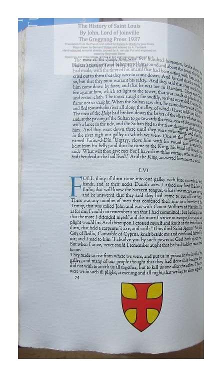 The History of Saint Louis, The Gregynog Press, Sample Text and Decoration #6