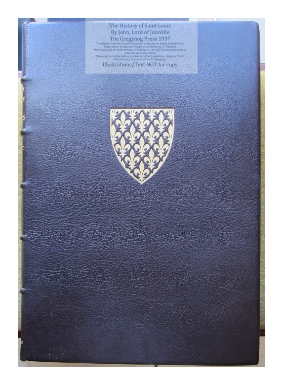 The History of Saint Louis, The Gregynog Press, Cover