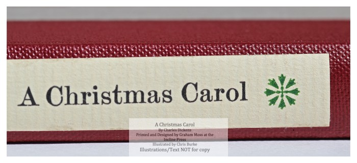 A Christmas Carol, Incline Press, Macro of Spine