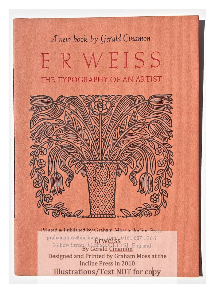E.R. Weiss, Incline Press, Cover