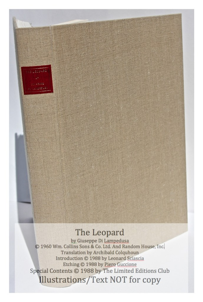 The Leopard, Limited Editions Club, Spine and Cover