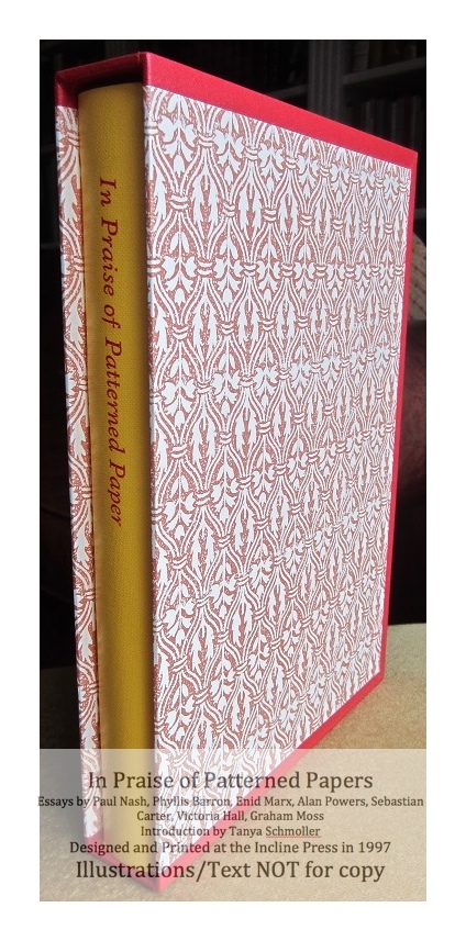 In Praise of Patterned Papers, Incline Press, Book in Slipcase
