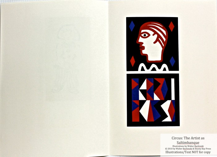 Shanty Bay Press, List of Illustrations, Picasso Pierrot linocut