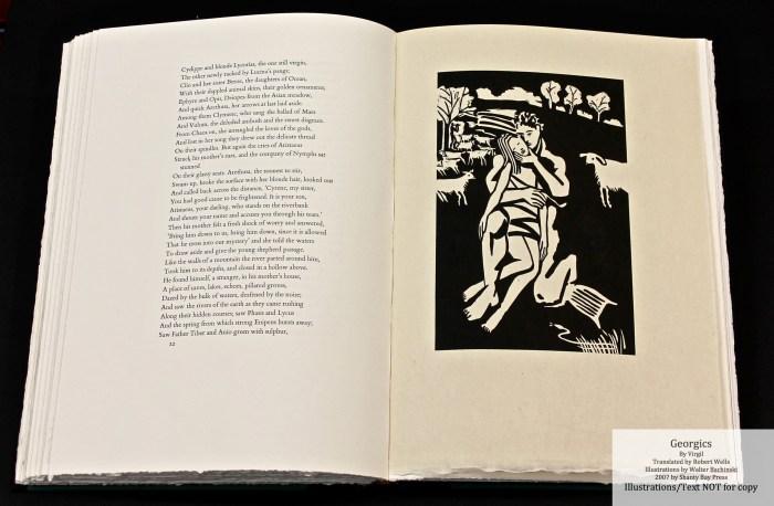 Georgics, Shanty Bay Press, Book Four Woodcut #2