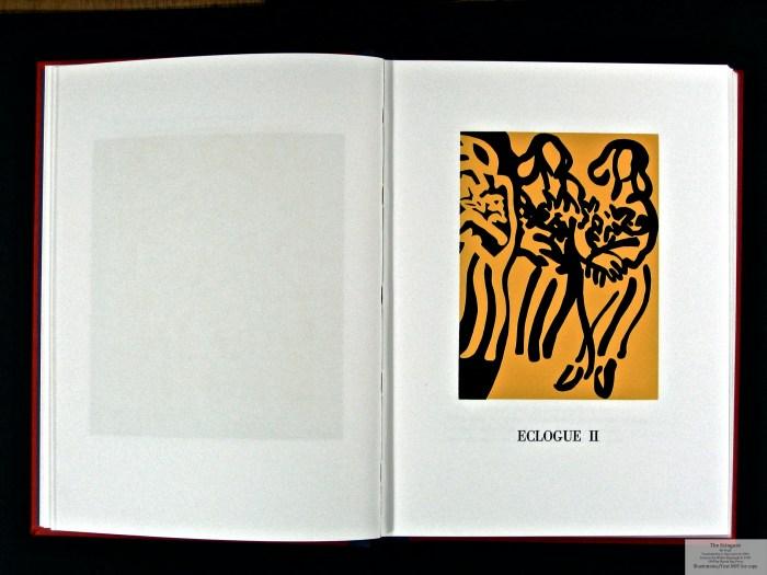 Eclogues, Shanty Bay Press, Sample Linocut #2