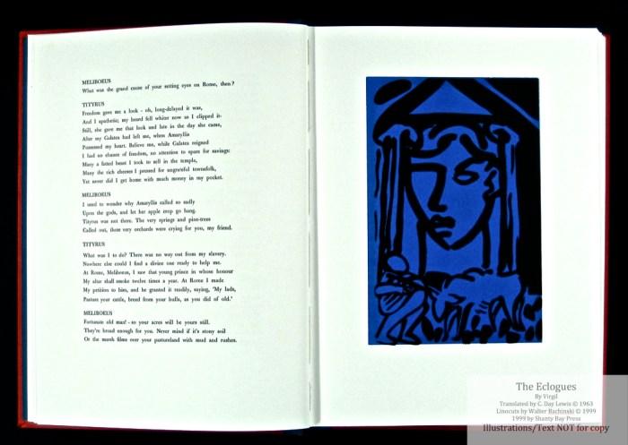 Eclogues, Shanty Bay Press, Sample Linocut #3