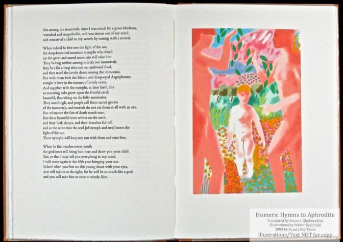 Homeric Hymn to Aphrodite, Shanty Bay Press, Young Aeneas Pochoir