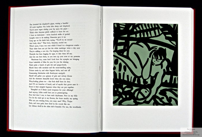 Eclogues, Shanty Bay Press, Sample Linocut #4 and Text