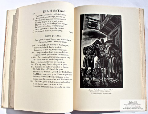 Richard III, Limited Editions Club, Sample Illustration #2 with Text