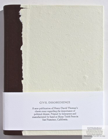 Civil Disobedience, Sharp Teeth Press, Cover