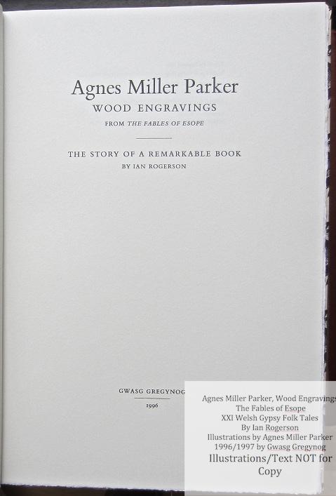 Agnes Miller Parker Wood-Engravings, Gregynog Press, Title Page