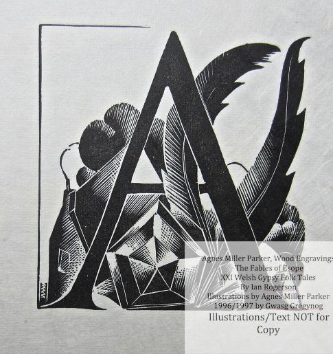 Agnes Miller Parker Wood-Engravings (Esope), Gregynog Press, Sample Illustration #1