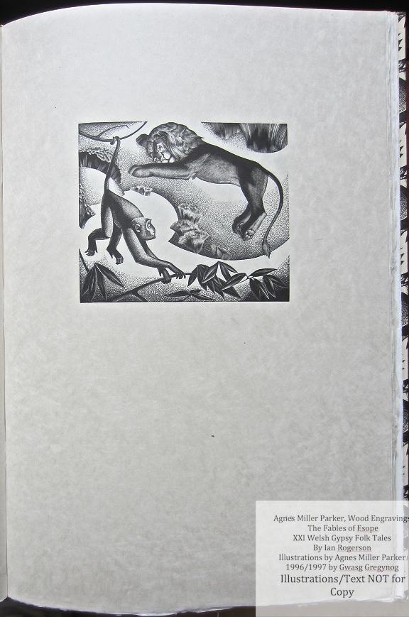 Agnes Miller Parker Wood-Engravings (Esope), Gregynog Press, Sample Illustration #5