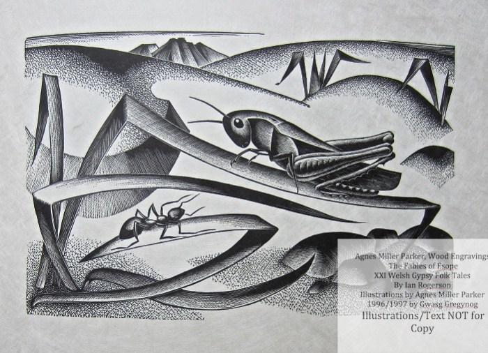 Agnes Miller Parker Wood-Engravings (Esope), Gregynog Press, Sample Illustration #6