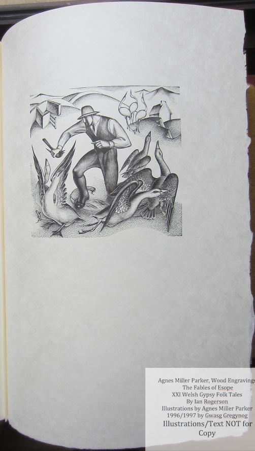 Agnes Miller Parker Wood-Engravings (Welsh Gypsy), Gregynog Press, Sample Illustration #7