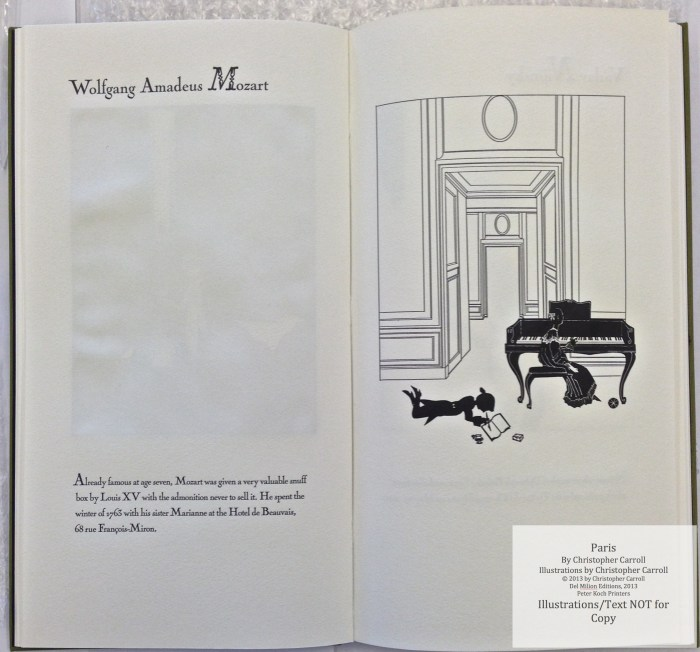 Paris, Peter Koch Printers, Sample Illustration #3 with text