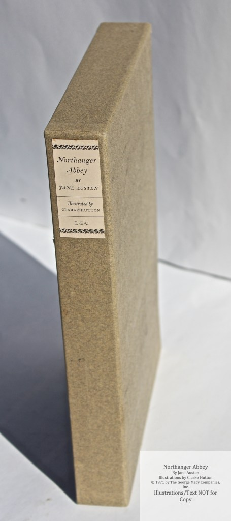 Northanger Abbey, Limited Editions Club, Slipcase Spine
